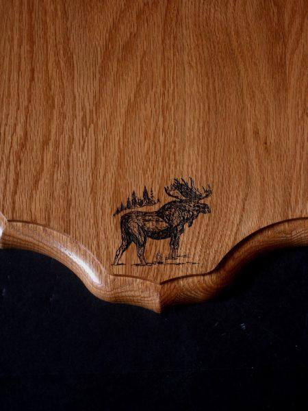 Antler Mount Kit- Laser Engraved Moose - Bear Scents